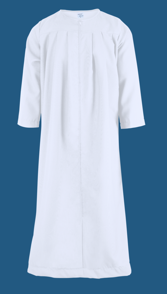 Locker rooms adult baptism gown